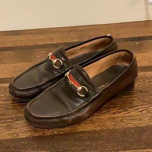 Gucci Leather Horesebit Loafers Size US 11 / EU 44